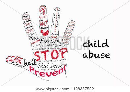Stop Child Abuse Illustration