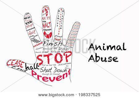 Stop Animal Abuse Illustration