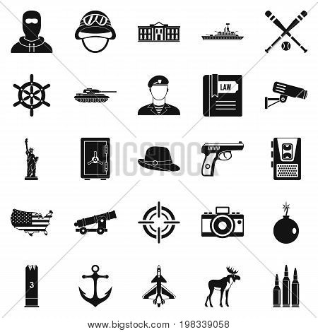 Bullet icons set. Simple set of 25 bullet vector icons for web isolated on white background