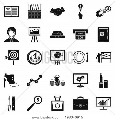 Symposium icons set. Simple set of 25 symposium vector icons for web isolated on white background