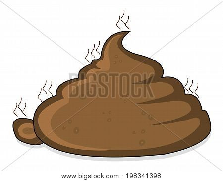A pile of poop, vector art illustration faeces.