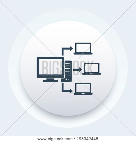 computer network, database server icon, eps 10 file, easy to edit