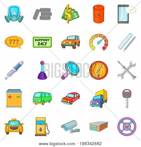 Mending icons set. Cartoon set of 25 mending vector icons for web isolated on white background