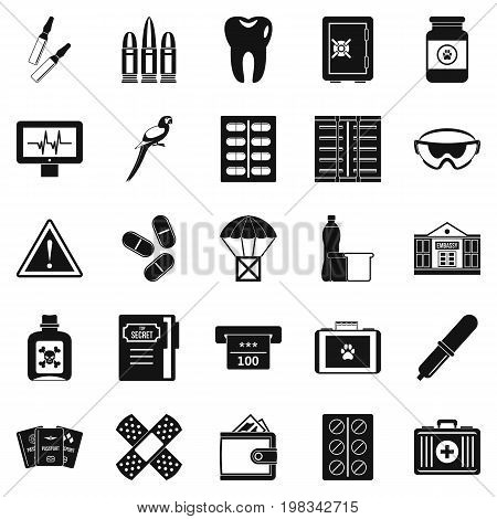 Cause icons set. Simple set of 25 cause vector icons for web isolated on white background