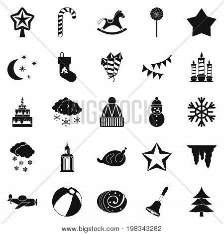 Cult icons set. Simple set of 25 cult vector icons for web isolated on white background poster