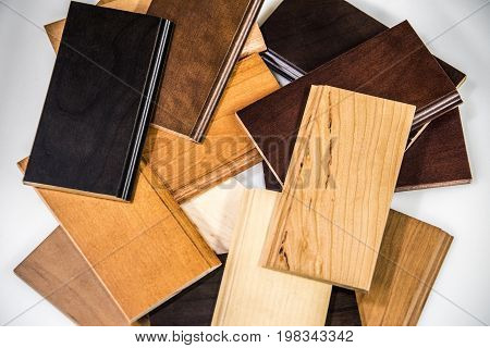 Woodflooring. Wood floor. Wood floor made of oak material. Golden color of wood floor. New wood floor installed.