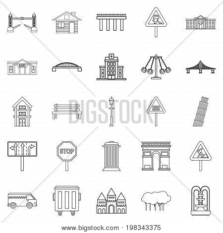 Mart icons set. Outline set of 25 mart vector icons for web isolated on white background