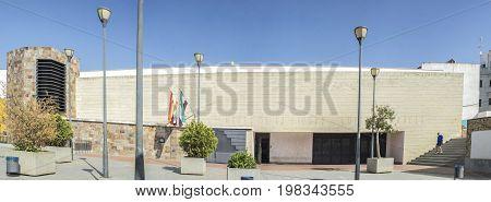 Badajoz Spain - June 22 2017: Luis de Morales City Museum Building Badajoz. Panoramic shot
