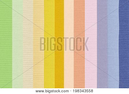 set of colorful polyester fabric texture background