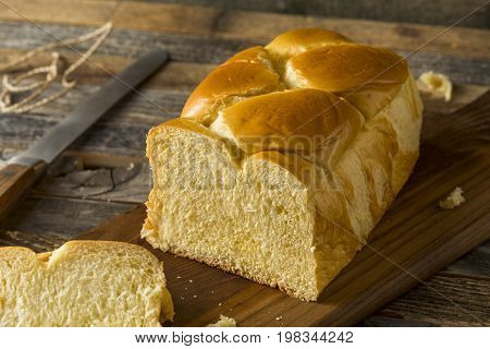Homemade Sweet Brioche Bread Loaf