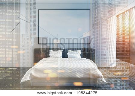 Loft Bedroom Interior, Shades, Poster Double