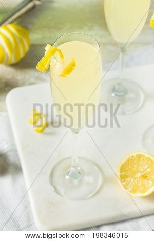 Boozy Bubbly Lemon French 75 Cocktail