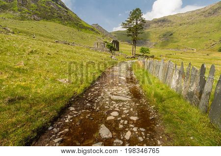 Cwmorthin, Hanging Valley In North Wales With Ruined Chapel