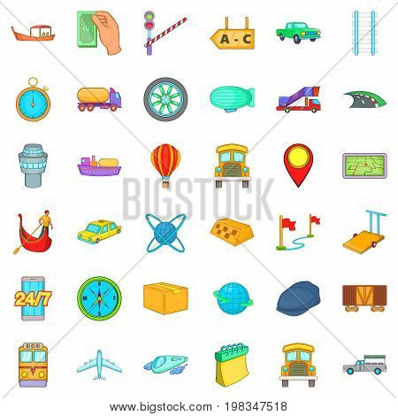 Slow delivery icons set. Cartoon style of 36 slow delivery vector icons for web isolated on white background
