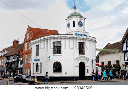 Stratford-upon-avon, Uk - July 21 2017: Old Barclays Bank, A Grade Ii Listed Building At Market Cros