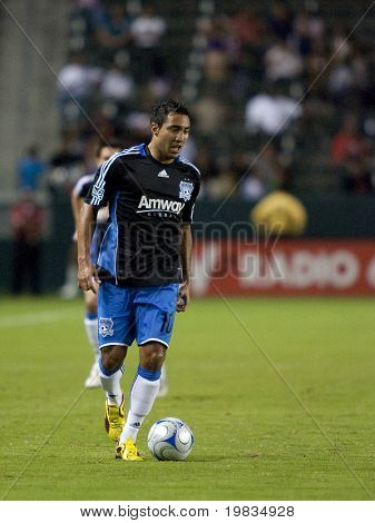 CARSON, CA. - OCTOBER 17: Arturo Alvarez in action  during the Chivas USA vs. San Jose Earthquakes match at the Home Depot Center on October 17, 2009 in Carson.