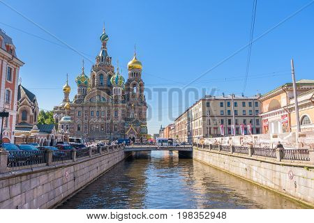 Church of the Savior on Spilled Blood in Saint Petersburg Russia