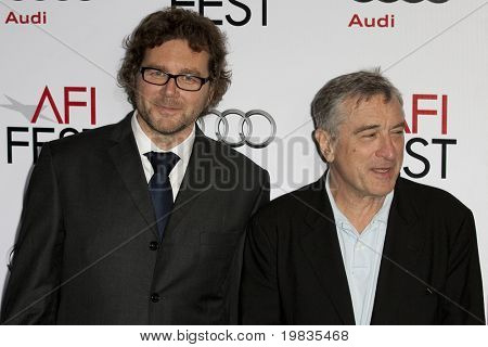 HOLLYWOOD, CA. - NOVEMBER 3: Kirk Jones (L) and Robert De Niro (R) attend the AFI Fest premier of Everybody's Fine at The Grauman's Chinese Theater on November 3, 2009 in Hollywood.