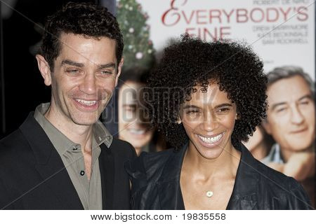 HOLLYWOOD, CA. - NOVEMBER 3: James Frain (L) and guest (R) attend the AFI Fest premier of Everybody's Fine on November 3, 2009 at The  Grauman's Chinese Theater in Hollywood.