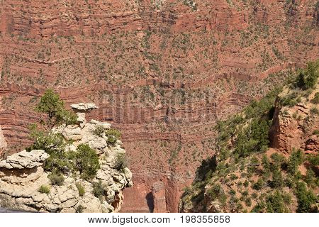 Grand Canyon scenery from the Southern Rin in Arizona USA