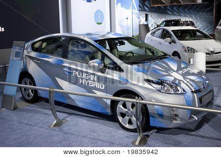 Los Angeles, ca. 3. Dezember: Toyota Prius plug-in Hybrid auf dem Display auf der 2009-Los Angeles-Auto-s