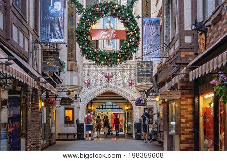 Inside London Court shopping arcade - Perth, WA, Australia, 7 January 2013