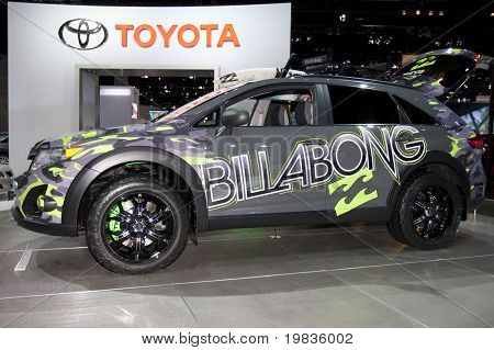 LOS ANGELES, CA. - DECEMBER 3: Modified 2010 Toyota Venza on display at the 2009 Los Angeles Auto Show on December 3, 2009 at the L.A. Convention Center in Los Angeles.