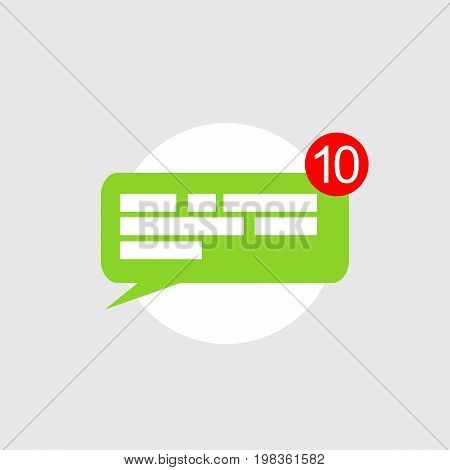 Chat notifications icon concept. Chatting bubble element
