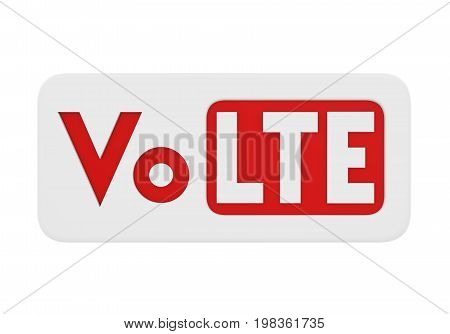 Voice over LTE Sign isolated on white background. 3D render