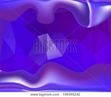 Purple-lilac and violet luminous wavy background. Shining and contemporary vector illustration