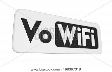 Voice over WiFi Sign isolated on white background. 3D render