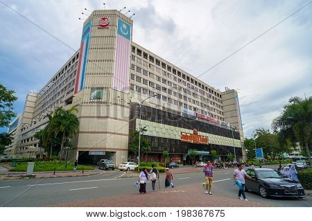 Kota Kinabalu,Sabah-Apr 18,2017:View of Centre Point,shopping centre located in the city of Kota Kinabalu, Sabah,Malaysia.It is one of the earliest shopping mall in the city, together with Karamunsing Complex & Wisma Merdeka.