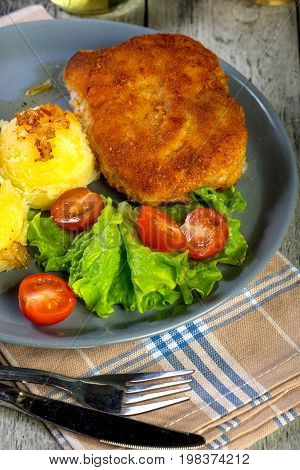 Cutlet Cordon Bleu.