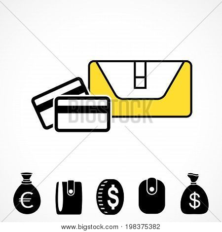 Wallet Or Pocketbook Vector Icon