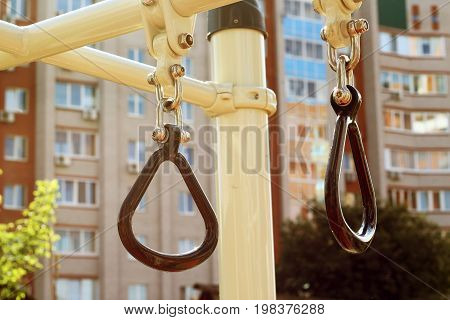 Metal Ring For Outdoor Sports, Inventory On The Playground