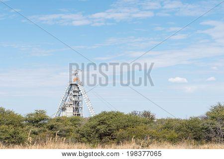 The headframe at the copper mine at Kombat in the Otjozondjupa Region of Namibia