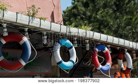 Life Preservers Or Life Savers Hanging
