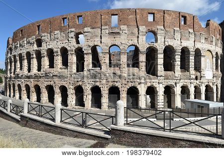Famous antique Colosseum in Rome, Italy, Europe
