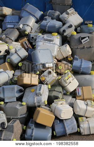 Discharged Gas Counters Into A Dump Of Hazardous And Polluting M