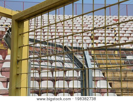 Robust Metal Protection Net In The Stadium To Separate Fans On T