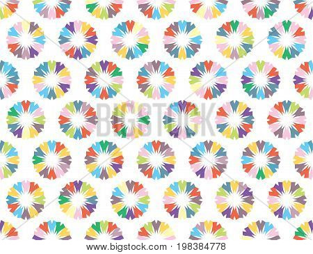 Seamless vector background with color abstract icons