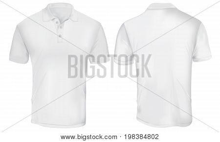 White Polo Shirt Template Isolated on White