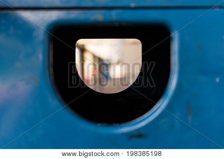 close up wide shot concept shot of garbage bin