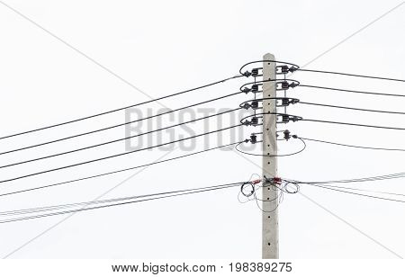 Electric pole connect to the high voltage electric wires.