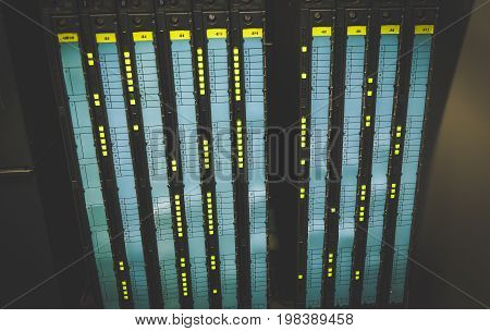 Colorful Wires PLC Cable in Control Panel System