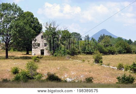 Abandoned house in Balkans inland, Bosnia and Herzegovina