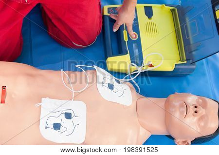 Defibrillator Cpr, Color Image, Selective Fous, Close Up