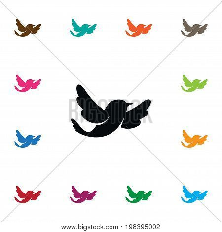 Sparrow Vector Element Can Be Used For Sparrow, Bird, Fowl Design Concept.  Isolated Fowl Icon.