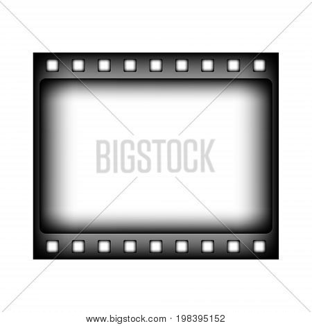 Film strip sign icon on white background. Vector illustration.
