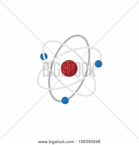 Orbit Vector Element Can Be Used For Atom, Nuclear, Molecule Design Concept.  Isolated Atom Flat Icon.